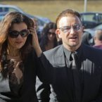 Bono with his wife Alison Hewson.<span class=
