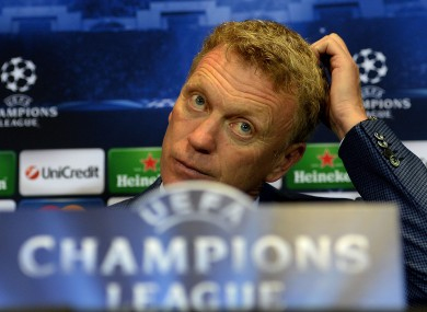 David Moyes: preparing for Champions League action tomorrow night.