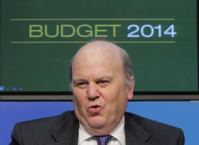 Minister for Finance Michael Noonan TD