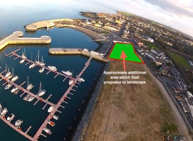The area Sisk plans to grass is shown in the photo. Access to the North Pier would be available only from the North Beach.