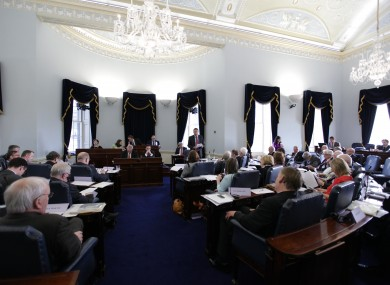 File photo of the Seanad chamber