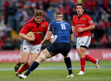 Archer on the charge against Leinster last season.