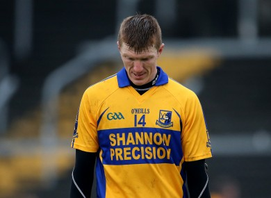 A dejected Niall Gilligan after yesterday's game.