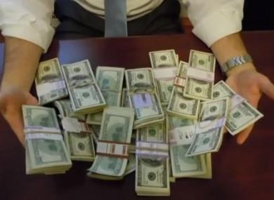 The $98k found in the $200 desk.