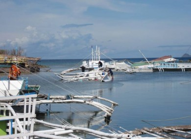 80 per cent of the dive school's boats were sunk in the storm