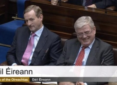 The Taoiseach and the Tánaiste were all smiles in the Dáíl chamber this morning