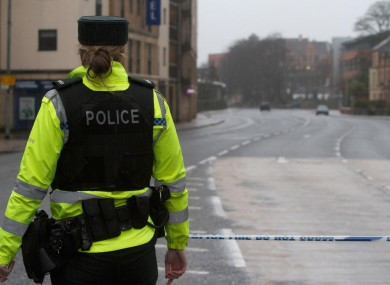 A PSNI officer in Derry (File photo)