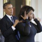 President Barack Obama and Oprah Winfrey.<span class=