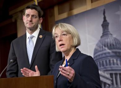 House Budget Committee Chairman Paul Ryan, R-Wis., left, and Senate Budget Committee Chairwoman Patty Murray, D-Wash.