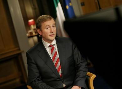 The Taoiseach during the national address tonight.