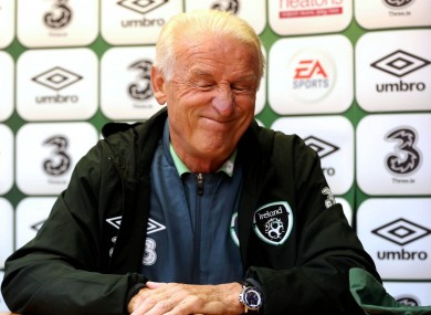 Giovanni Trapattoni left his post as Ireland boss earlier this year.