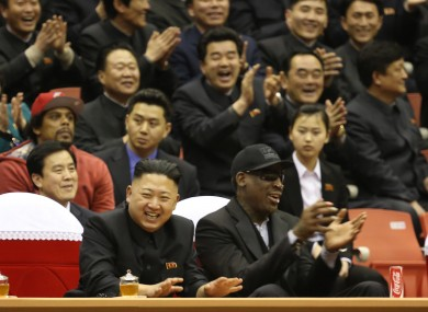 Rodman and North Korean leader Kim Jong-un.