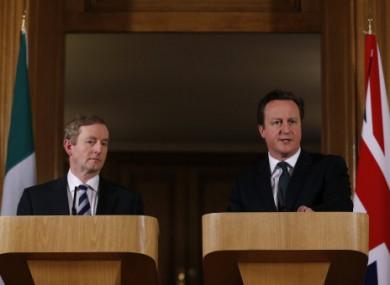 Enda Kenny and David Cameron during a press conference at 10 Downing Street. (File photo)