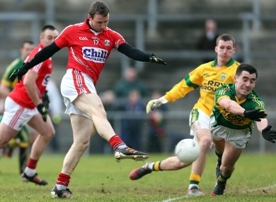John Hayes scores the crucial goal for Cork.