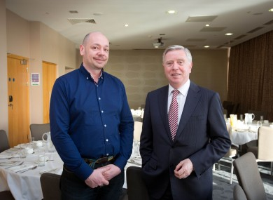 Former artictic director Karl Wallace (left) and board chairman Pat Cox (right)