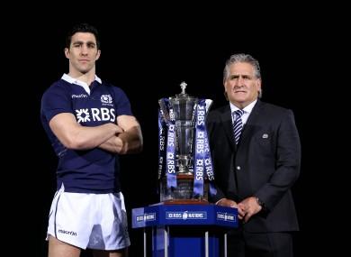 Scotland captain Kelly Brown and head coach Scott Johnson.