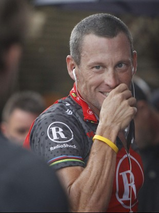 File picture of Lance Armstrong in 2010.