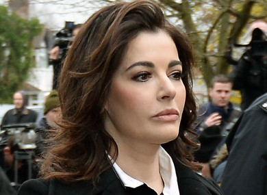 Nigella Lawson arriving at Isleworth Crown Court in west London.