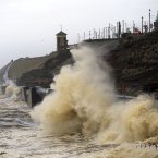 The Promenade between Fleetwood and Blackpool on 6 January.<span class=