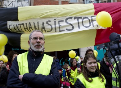 An anti-euthanasia demonstration in Brussels earlier this month.