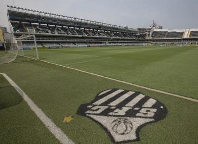 Vila Belmiro stadium, home of Santos FC.