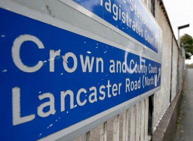 A general view of signage near Preston Crown Court, Preston.