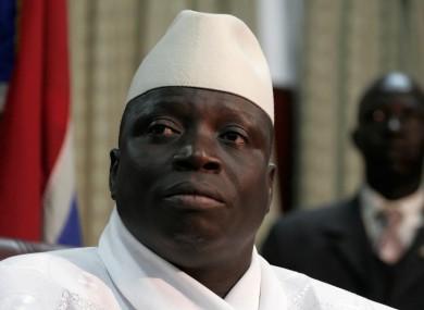 Gambian President Yahya Jammeh.