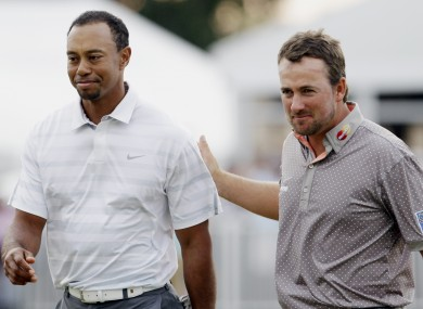Tiger Woods and Graeme McDowell, pictured at the Cadillac Championship in 2013.