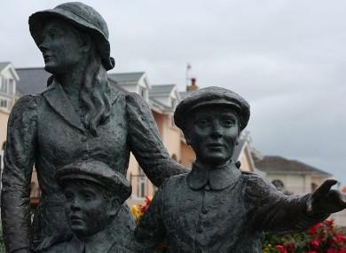 An emigration statue in Cobh, Cork.
