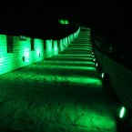 The Great Wall of China becomes the Green Wall of China for St Patrick's Day. <span class=