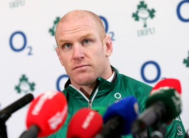 Ireland captain Paul O'Connell.