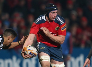Tommy O'Donnell starts at openside for Munster.