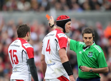 Payne sees red against Saracens.