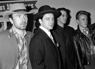 U2 lauching album in 1987.