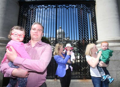 Our Children's Health campaign held a protest outside Government buildings this week.