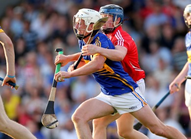 Tipperary's Brian Stapleton and Conor Lehane of Cork.