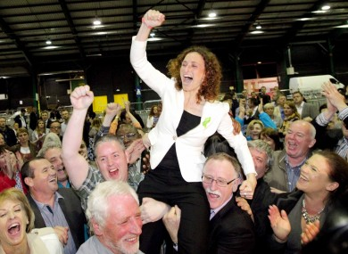 Sinn Féin's Lynn Boylan celebrates her victory in Dublin on Sunday night
