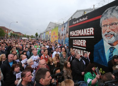 Martin McGuinness made the 'dark side' claim during the unveiling of this mural.