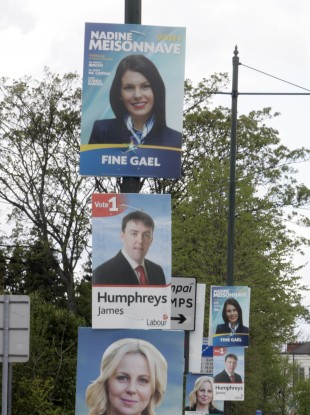 Local election posters are dominating lampposts across the country, particularly in Dublin