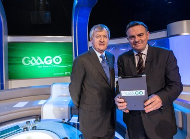 Noel Curran, Director General of RTÉ and Páraic Duffy, Director General of the GAA.