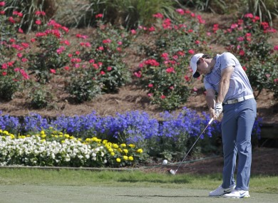 McIlroy took in a practice round with two buddies yesterday.