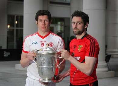 Sean Cavanagh and Kevin McKernan will be in opposition on Sunday.