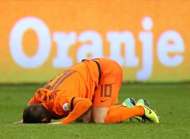 Van der Vaart failed to recover from a calf strain.