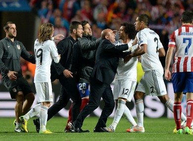 Diego Simeone charged by UEFA for on-pitch Champions ...