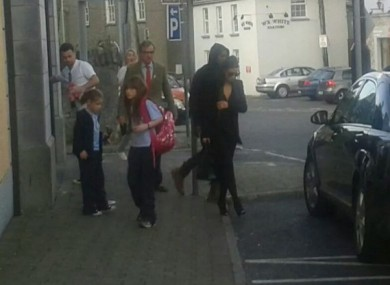 Kim and Kanye hanging around Portlaoise last month.
