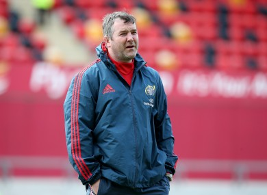 Anthony Foley takes over from Rob Penney as Munster's head coach.