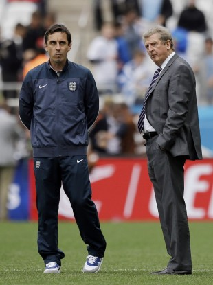 Roy Hodgson believes Gary Neville has the ability to take over as England boss one day.