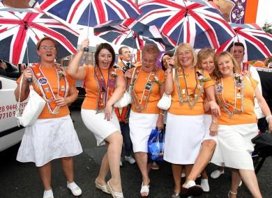 Orangewomen march in Belfast in 2006.