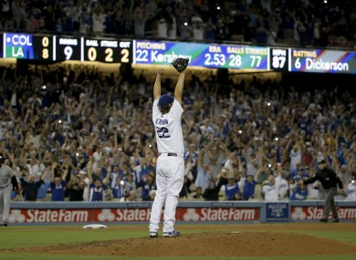Kershaw: close to throwing MLB's first perfect game since August 2012.