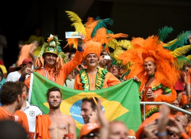 The Netherlands' fans were in dreamland last night in Salvador.